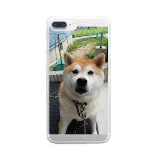 柴犬マロンさん Clear smartphone cases