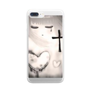 姫裏黒子 Clear smartphone cases