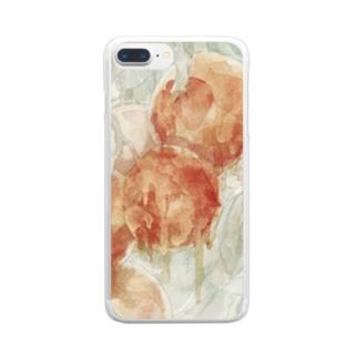 あきらめたピンクグレープフルーツ Clear smartphone cases