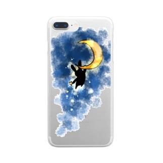 つきうさぎ Clear smartphone cases
