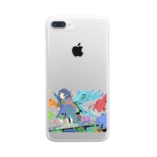 夜へ Clear smartphone cases