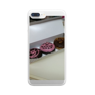 ドーナツT-shirt Clear smartphone cases