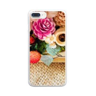 ジュート&プリザーブドフラワー3 Clear smartphone cases