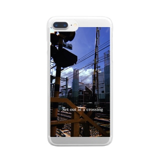 railroad crossing Clear smartphone cases