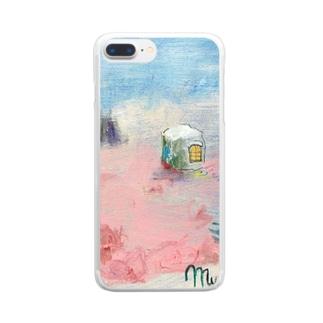 ムラナギ/森の家 Clear smartphone cases