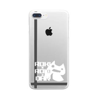 悪の秘密結社ロキロキ団団員章ロゴ Clear smartphone cases