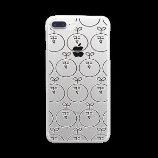 アトリエ蟲人の蟲人の顔沢山。 Clear smartphone cases