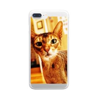 🐱アビシニアン🐈 Clear smartphone cases
