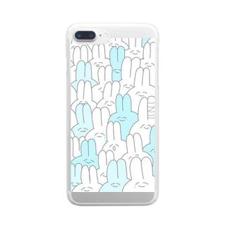 ゆるいうさぎ Clear smartphone cases