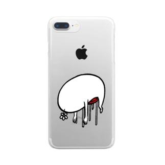 休憩中 Clear smartphone cases
