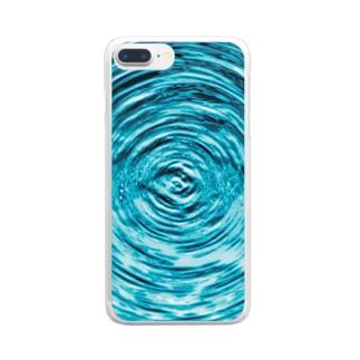 【箱水】波紋 Clear smartphone cases