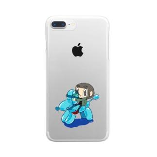 のるカメダ 001:いぬ Clear smartphone cases