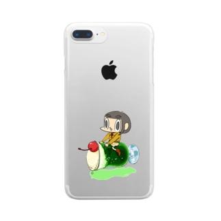 のるカメダ 003:ソーダ Clear smartphone cases