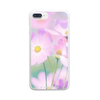 コスモス Clear smartphone cases