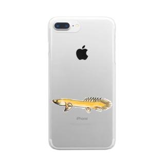 ポリプテルス Clear smartphone cases