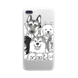 わんこ集合っ! その2 Clear smartphone cases