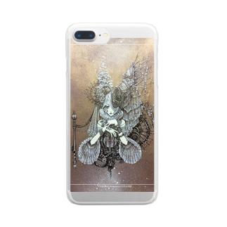白姫の薔薇の願い事 Clear smartphone cases