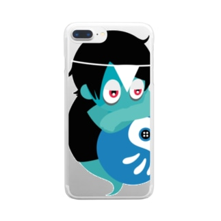 FUYOUくん【四郎】 Clear smartphone cases
