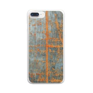 朽ちた鉄 Clear smartphone cases