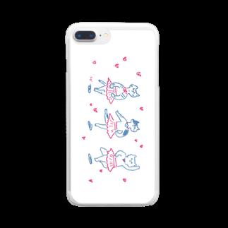すぎやままりのバレリーナネコ Clear smartphone cases