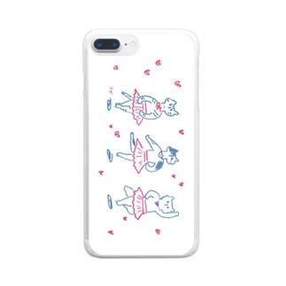 バレリーナネコ Clear smartphone cases