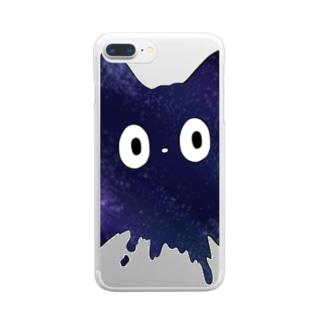 ネコチャンは液体 銀河 Clear smartphone cases