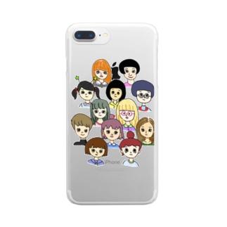わたしたち Clear smartphone cases