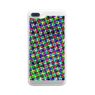 ドット Clear smartphone cases