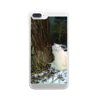 Winter Cat Clear smartphone cases