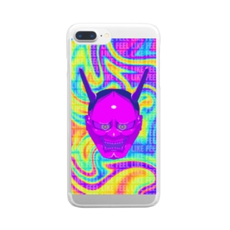 HANNYA~般若~ 紅桔梗 Clear smartphone cases
