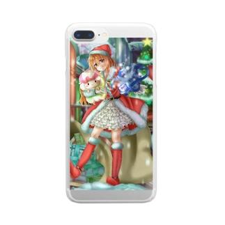 ぬくもりちゃんクリスマスver Clear smartphone cases