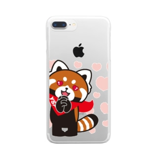 YSパンダ・ラブラブ Clear smartphone cases