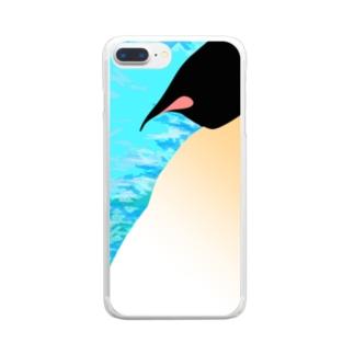 どっしりコウテイペンギン Clear smartphone cases