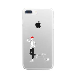 うっかりさん Clear smartphone cases