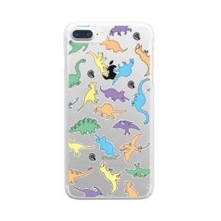 きょうりゅういっぱい Clear smartphone cases