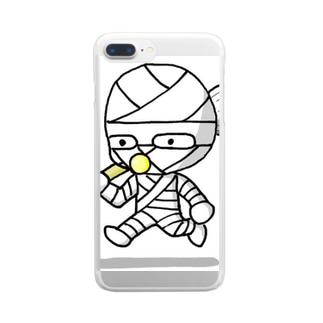 コッピーくん Clear smartphone cases