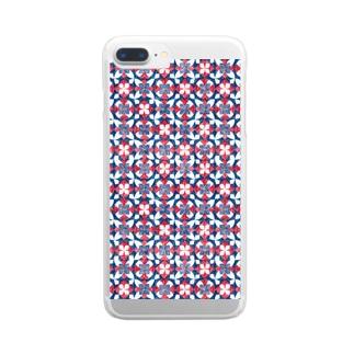 千代紙。 Clear smartphone cases