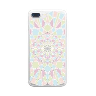 カレイド(アイスクリーム) Clear smartphone cases