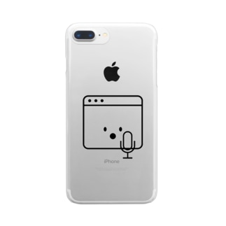 singerくん Clear smartphone cases