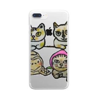 楽しい宴 Clear smartphone cases