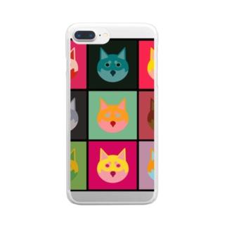 いぬころ@柴犬屋の柴犬×アンディ・ウォーホル Clear smartphone cases