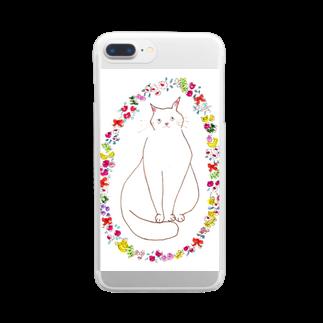 おにくのおはなちゃん Clear smartphone cases