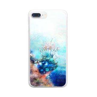 コケギンポ Clear smartphone cases