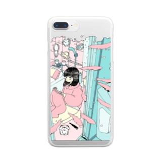 お風呂場 Clear smartphone cases