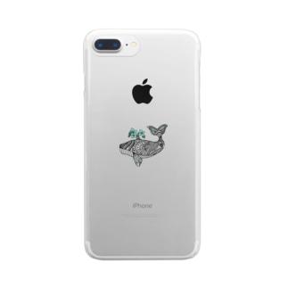 花咲くクジラ Clear smartphone cases