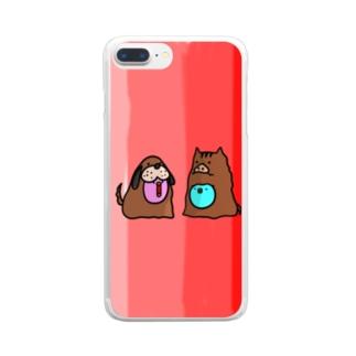 赤いスマホケース Clear smartphone cases
