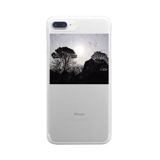 街にある公園でも大地を感じられた Clear smartphone cases