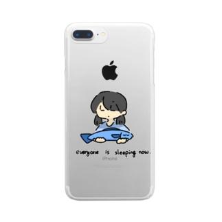 みんな寝てる Clear smartphone cases