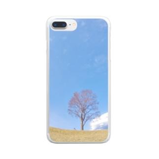 孤高のブナ Clear smartphone cases