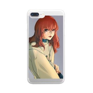 赤毛ゆるっと女子 Clear smartphone cases